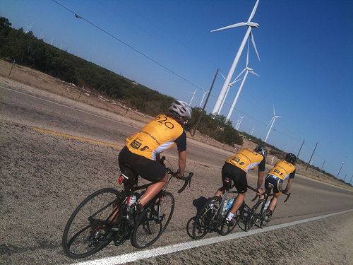 A head wind on a bumpy 90 mile ride